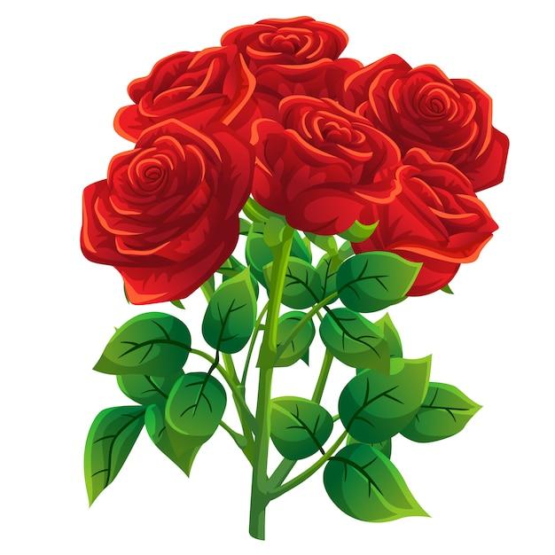 Style De Dessin Animé Rose Rouge Télécharger Des Vecteurs