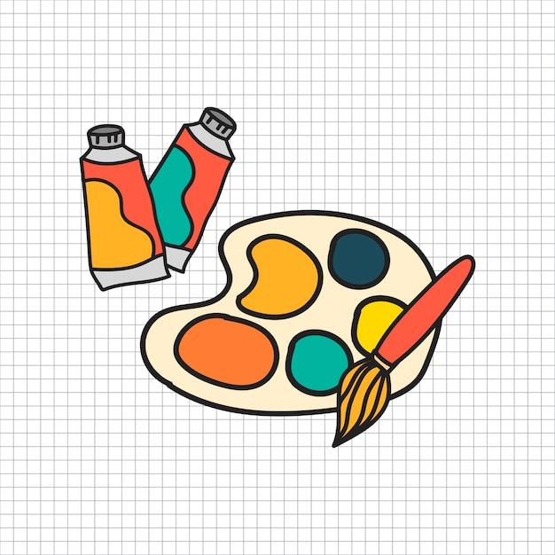 Style De Dessin D'illustration Stationnaire Vecteur gratuit