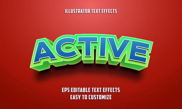 Style D'effets De Texte Modifiables 3d Vecteur Premium