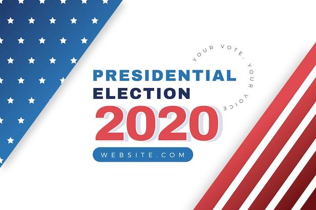 Style De Fond De L'élection Présidentielle Américaine 2020 Vecteur gratuit
