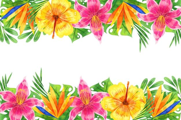 Style De Fond Floral Aquarelle Vecteur gratuit