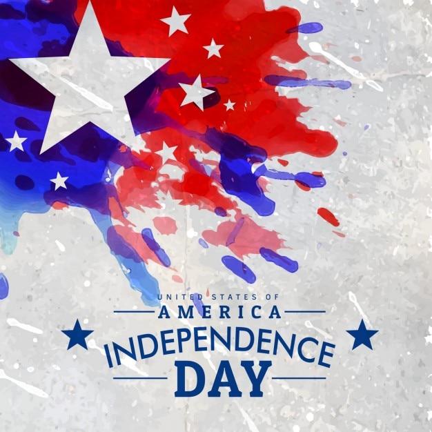 Style grunge jour de l'indépendance américaine fond Vecteur gratuit