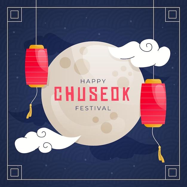 Style D'illustration Du Festival De Chuseok Vecteur gratuit