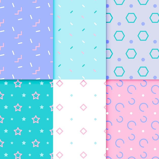 Style De Jeu De Motifs Géométriques Minimal Vecteur gratuit