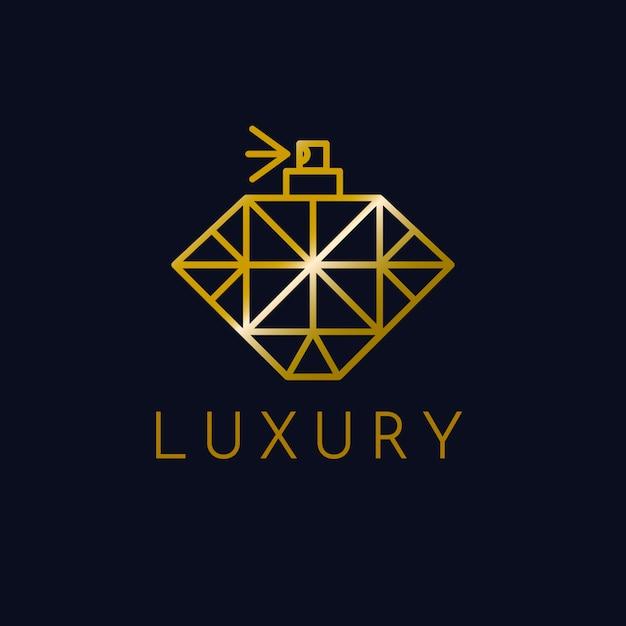 Style De Luxe Pour Logo De Parfum Vecteur Premium