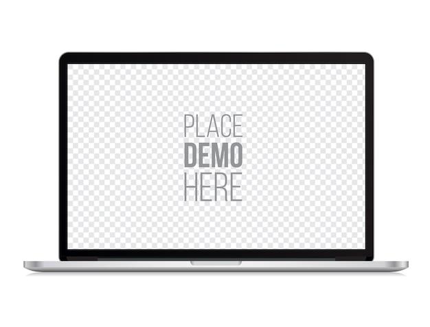 Style De Macbook Ordinateur Portable Devant Maquette Isolé Vecteur Premium