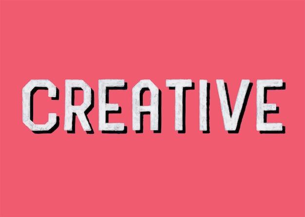 Style manuscrit de typographie créative Vecteur gratuit