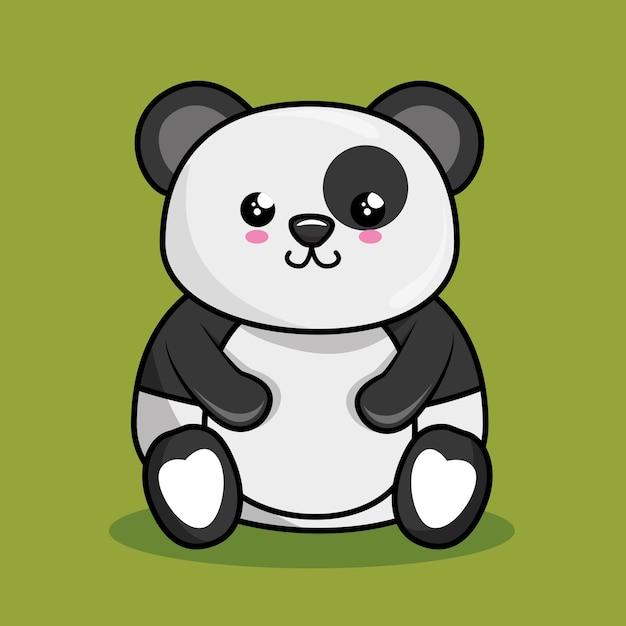 Style Mignon De Panda Kawaii Télécharger Des Vecteurs Premium