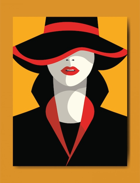 Style de la mode femme Vecteur Premium
