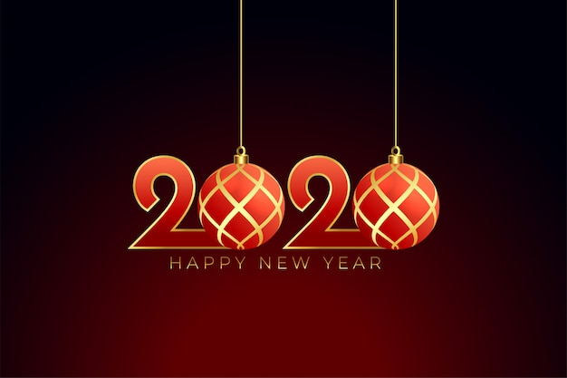 Style de noël 2020 bonne année Vecteur gratuit