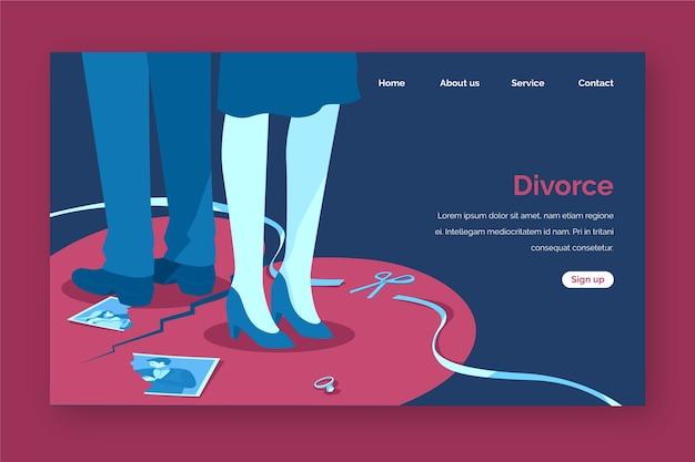 Style De Page De Destination Du Concept De Divorce Vecteur gratuit