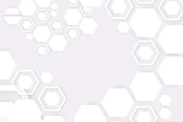 Style De Papier 3d Abstrait Blanc Vecteur Premium