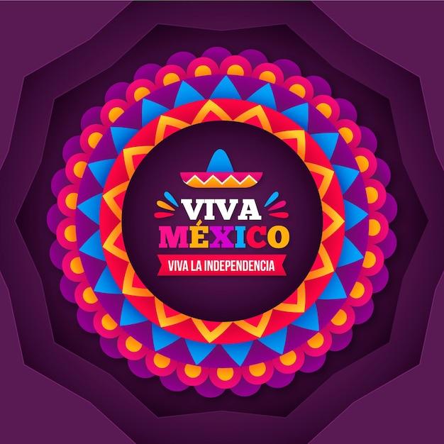 Style De Papier Independencia De México Vecteur Premium