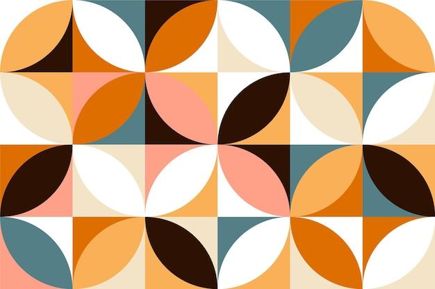 Style De Papier Peint Mural Minimaliste Géométrique Vecteur Premium