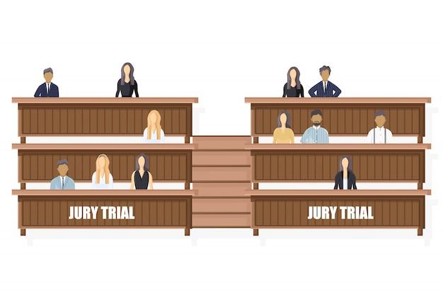 Style Plat Du Jury. Modèle De Brochure D'ordre Juridique Vecteur Premium