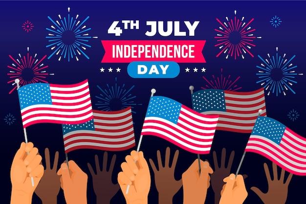Style Plat De La Fête De L'indépendance Vecteur gratuit