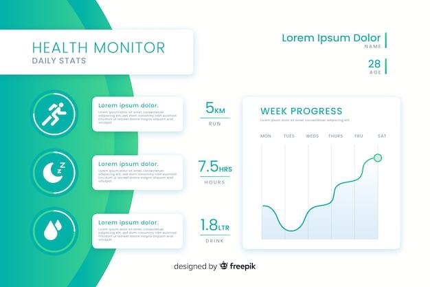 Style plat de modèle d'infographie santé Vecteur gratuit
