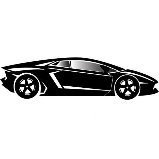 style porche de voitures de luxe en noir et blanc. Black Bedroom Furniture Sets. Home Design Ideas