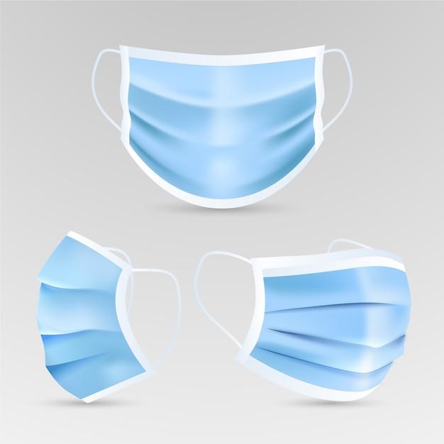 Style Réaliste De Masque Médical Vecteur gratuit
