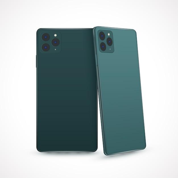 Style réaliste pour le nouveau modèle de smartphone Vecteur gratuit