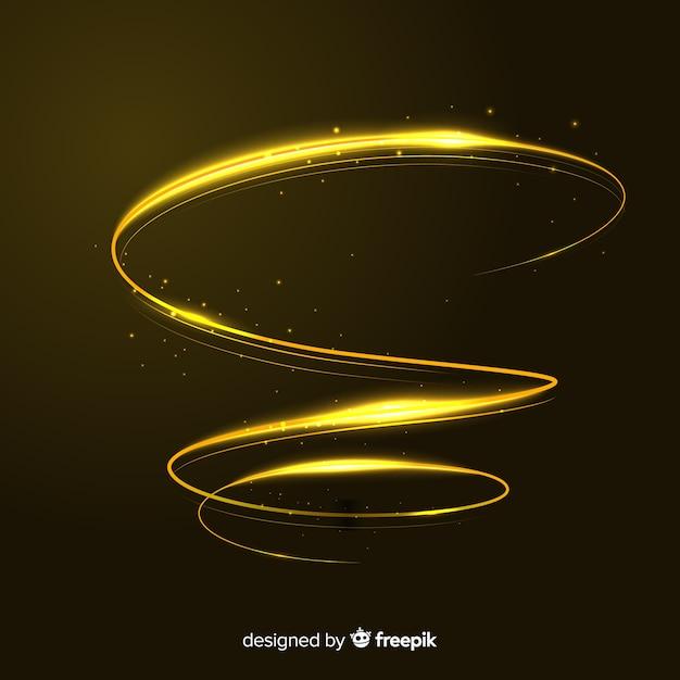 Style réaliste en spirale dorée brillante Vecteur gratuit