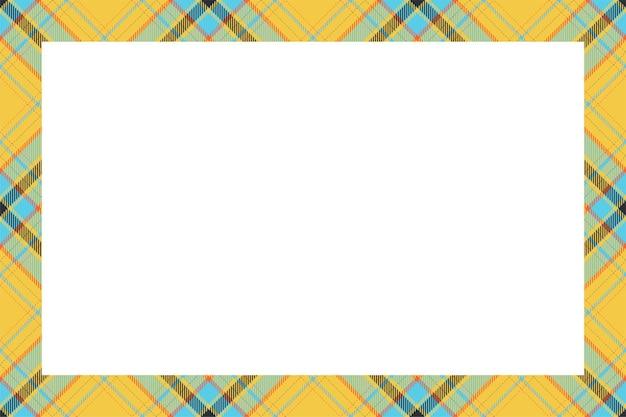 Style Rétro De Modèle De Frontière écossaise. Vecteur Premium