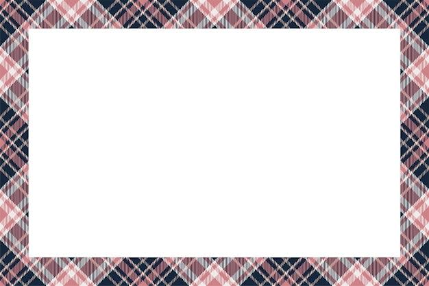 Style Rétro De Modèle De Frontière écossaise Vecteur Premium