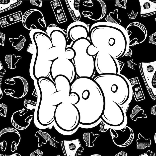Style De Rue Hip Hop. Wildstyle Gratuit Pour Wall City Urban. Impression D'art D'illustration De Style Moderne. Vecteur Premium