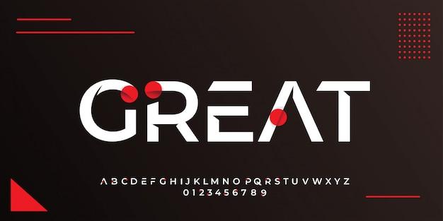 Style De Texte Blanc Moderne Avec Des Modèles De Conception De Cercle Rouge Abstrait Vecteur Premium