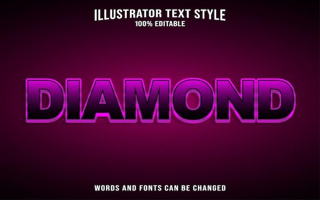 Style De Texte En Diamant Vecteur Premium