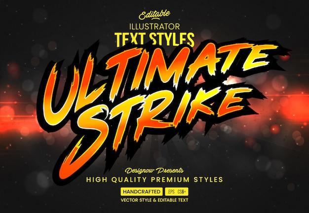 Style De Texte Du Jeu De Combat Vecteur Premium