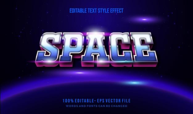 Style De Texte Du Thème Des Années 1980. Effet De Style De Texte Modifiable De Vecteur. Vecteur Premium