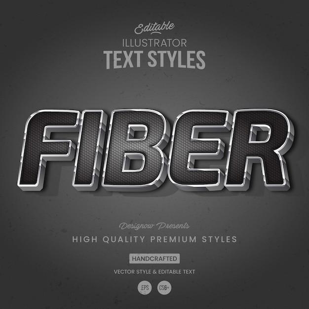 Style de texte en fibre de carbone Vecteur Premium