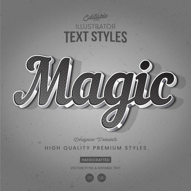 Style de texte en métal chromé Vecteur Premium