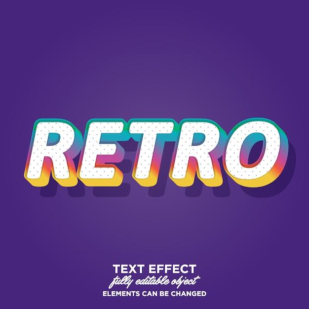Style de texte rétro coloré Vecteur Premium