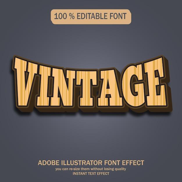 Style de texte vintage Vecteur Premium