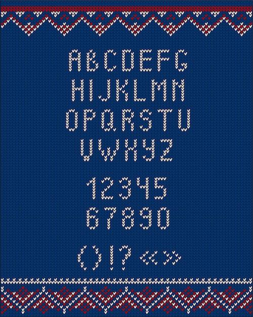 Style tricoté de style de pull moche de noël pour la conception Vecteur Premium