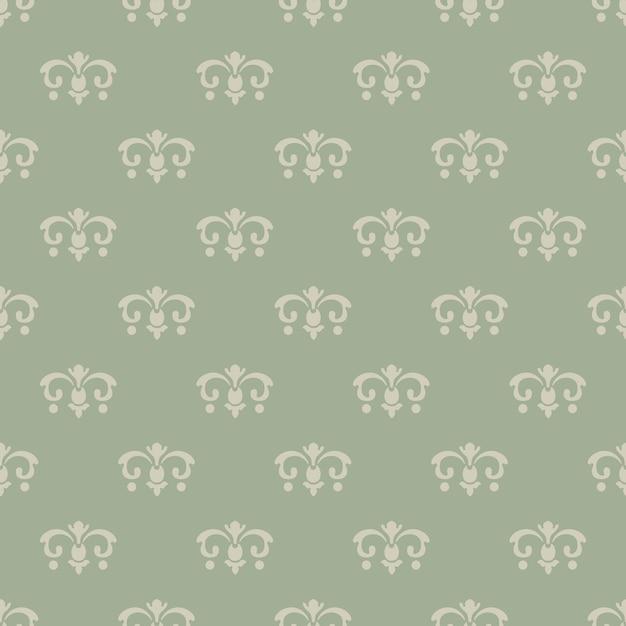 Style Vintage De Papier Peint. Modèle Sans Couture, Design De Fond, Décor Rétro Décoratif, Illustration Vectorielle Vecteur gratuit