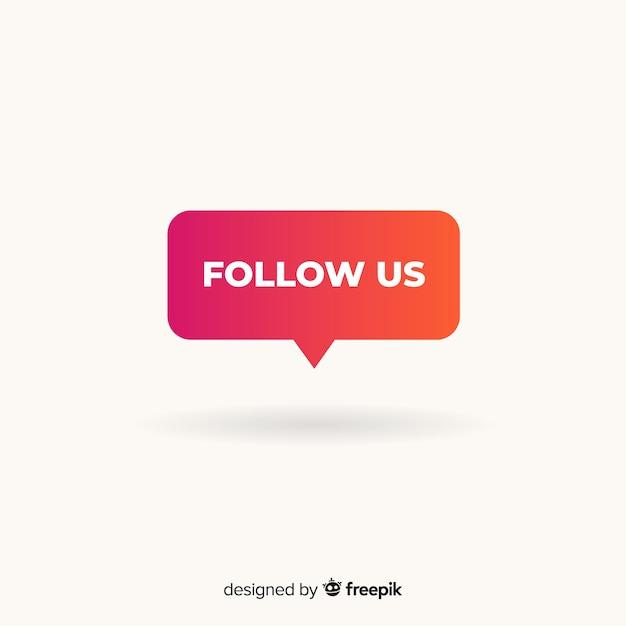 Suivez Nous En Arrière Plan Vecteur gratuit