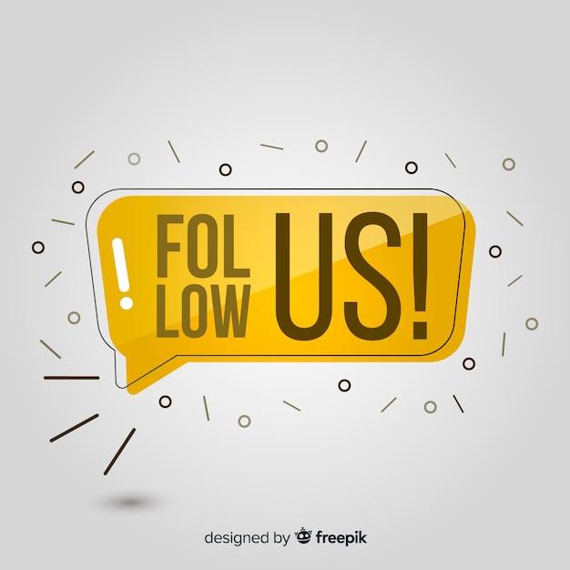 Suivez nous Vecteur gratuit