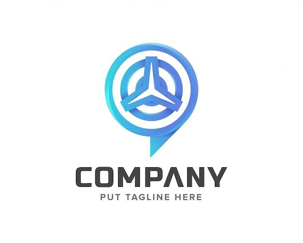 Suivi de signal de modèle créatif et création de logo de voiture Vecteur Premium