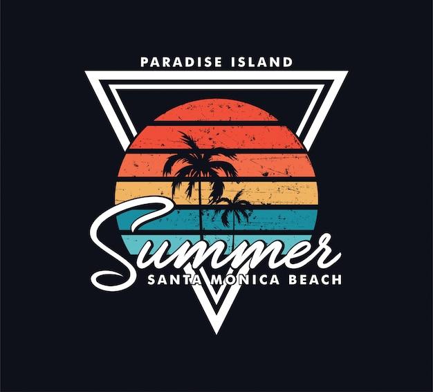 Summer beach island Vecteur Premium