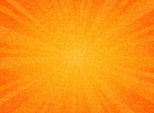 Sunburst abstrait couleur orange cercle motif texture design fond. Vecteur Premium