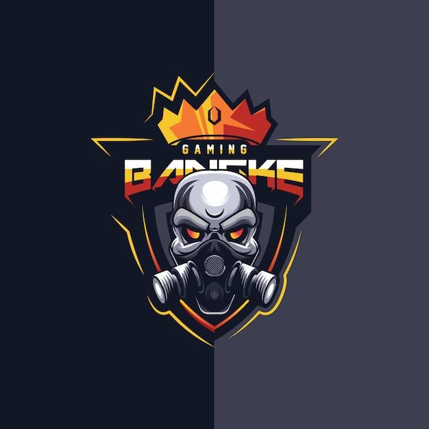 Super design de logo esport de jeu Vecteur Premium
