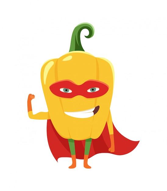 Super-héros au poivre Vecteur Premium