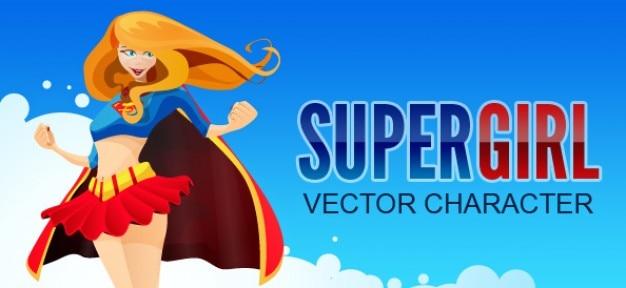 super hros caractre vectoriel fille vecteur gratuit - Super Heros Fille