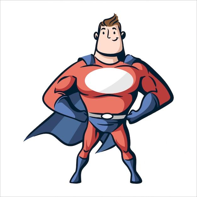 Super Heros De Dessin Anime Vecteur Premium
