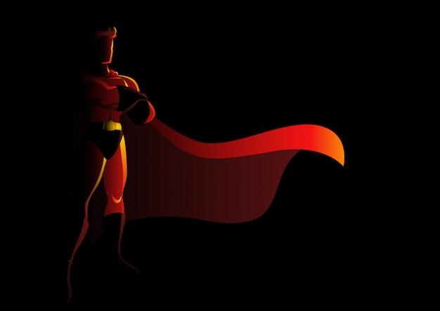 Super Héros En Pose Galante Vecteur Premium