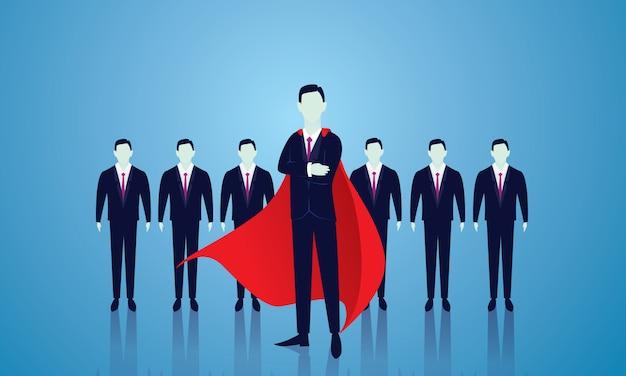 Super homme d'affaires Vecteur Premium