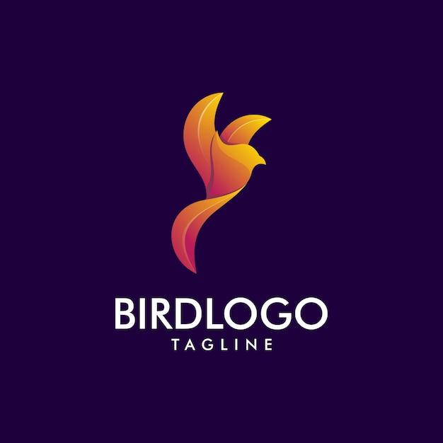 Super logo violet premium pour oiseaux Vecteur Premium